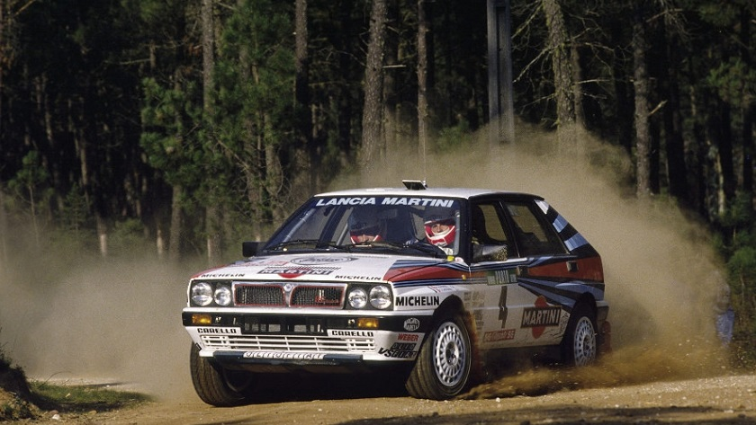 Miki Biasion su Lancia Delta Integrale
