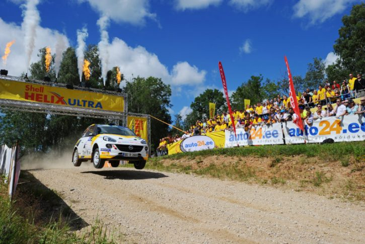 21 INGRAM Christopher EDMONDSON Elliott Opel Adam R2 Action during the 2016 European Rally Championship ERC Estonia Rally, from July 15 to 17 at Tallinn, Estonia - Photo Wilfried Marcon / DPPI