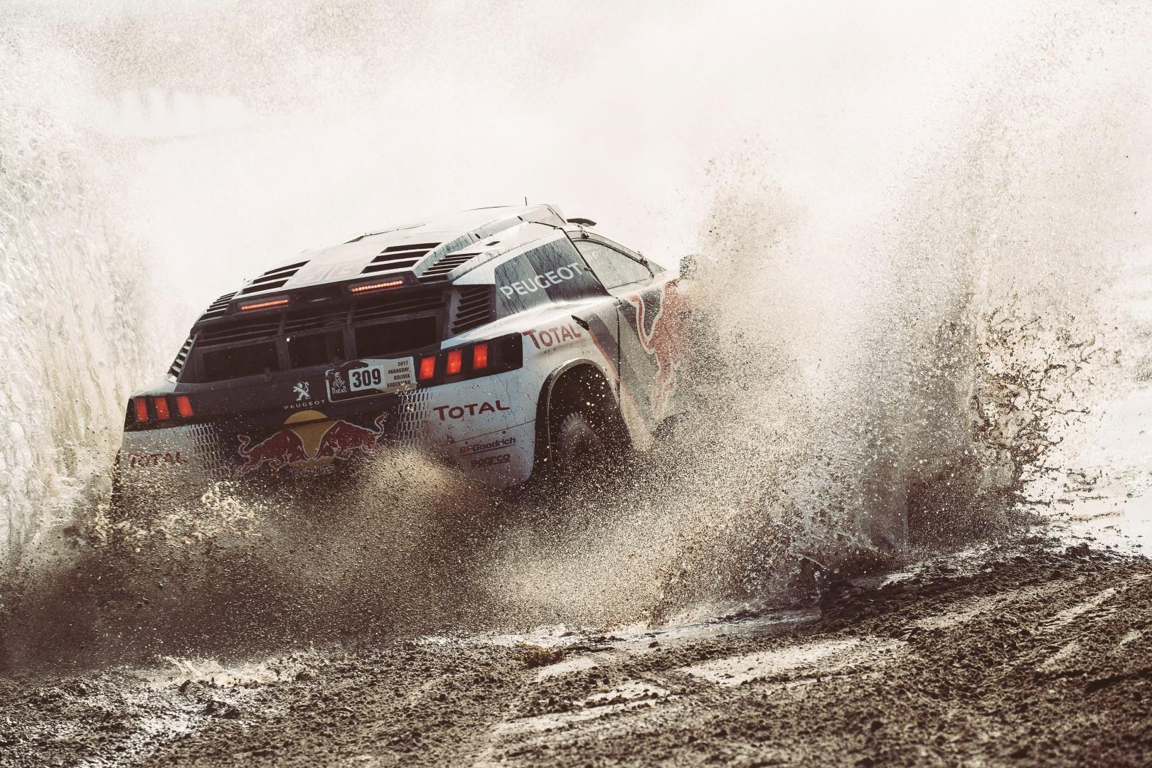 Sebastien Loeb (FRA) of Team Peugeot TOTALraces during stage 8 of Rally Dakar 2017 from Uyuni, Bolivia to Salta, Argentina on January 10, 2017.